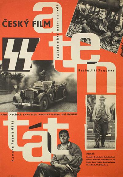 """Commando à Prague"" (""Atentat en VO), sorti en 1965"