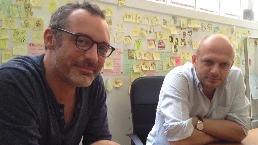 """Arthur de Pins (à gauche) et Alexis Ducord (à droite), les deux réalisateurs de """"Zombillénium"""""""