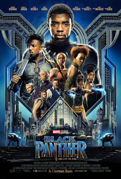 Black Panther de Ryan Coogler avec Chadwick Boseman, Michael B. Jordan, Lupita Nyong'o...