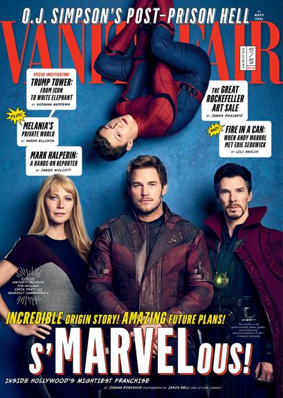 Pepper Potts, Spider-Man, Star-Lord & Doctor Strange