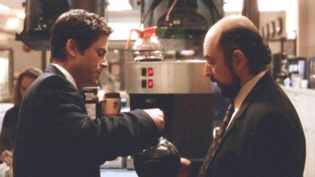 """Sam Seaborn et Toby Ziegler dans """"A la Maison-Blanche"""""""