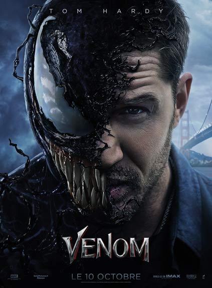 Venom de Ruben Fleischer avec Tom Hardy, Michelle Williams et Riz Ahmed