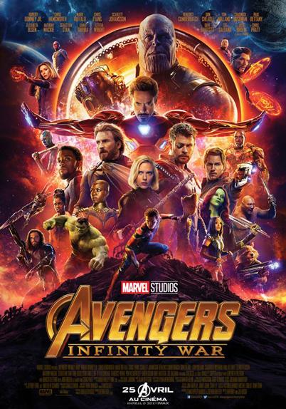 N°5 - Avengers Infinity War : 4 889 366 entrées