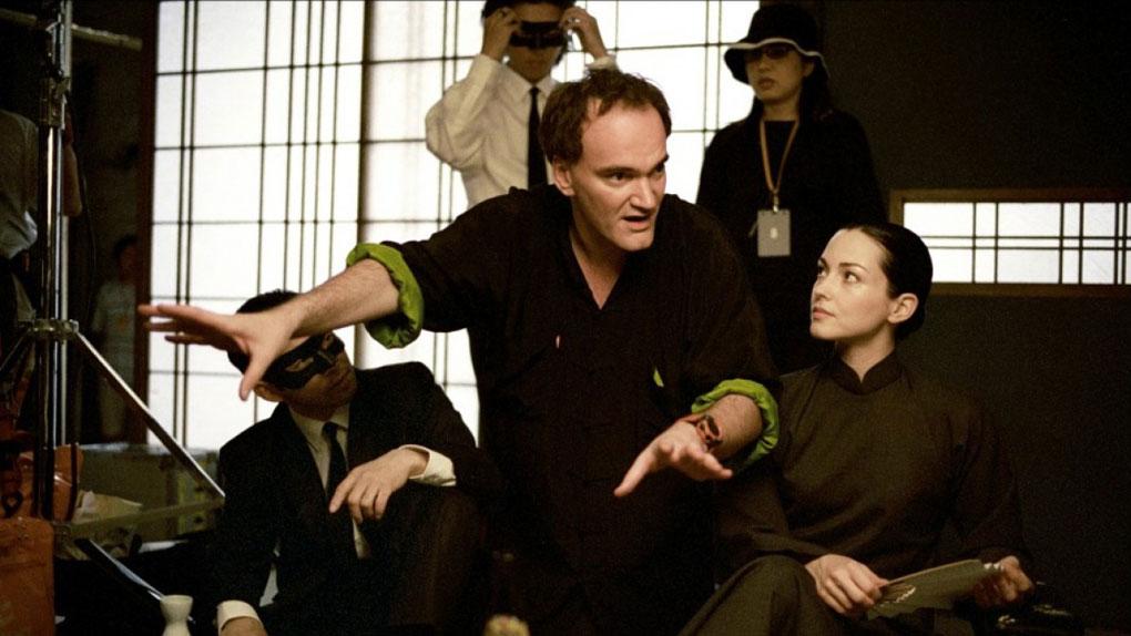Quentin Tarantino sur le tournage de Kill Bill