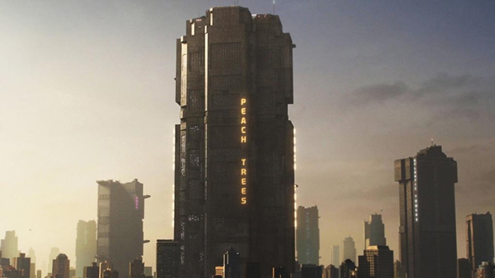 """Le Peach Trees de la ville Mega City One dans """"Dredd"""" (2013)"""