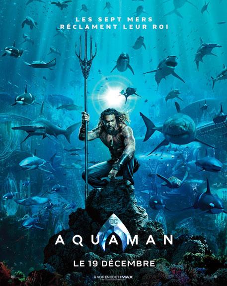 Aquaman de James Wan avec Jason Momoa, Amber Heard, Patrick Wilson...
