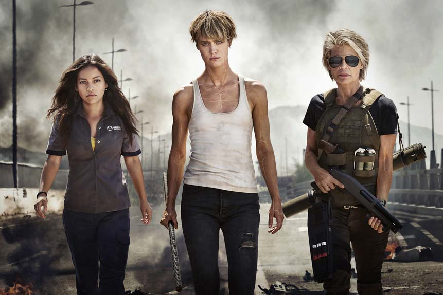 Terminator 6 avec Natalia Reyes, Mackenzie Davis, Linda Hamilton...