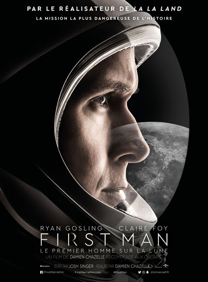 First Man avec Ryan Gosling, Claire Foy...