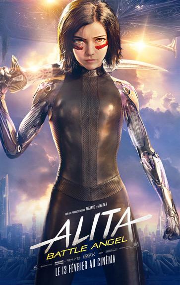 Alita: Battle Angel avec Rosa Salazar, Christoph Waltz...