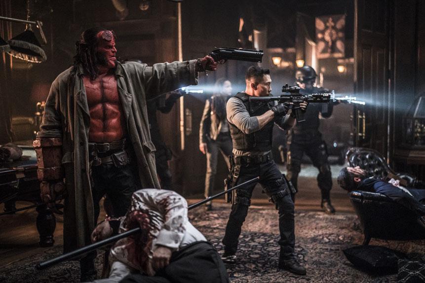 Hellboy avec David Harbour, Daniel Dae Kim...