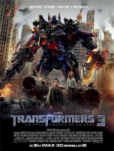 N°22 - Transformers 3 la face cachée de la Lune : 1,123 milliard de dollars de recettes