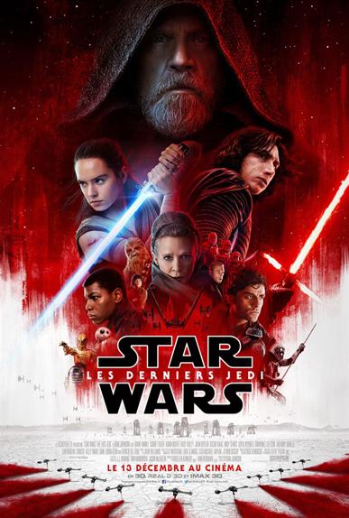 N°11 - Star Wars Les Derniers Jedi : 1,332 milliard de dollars de recettes