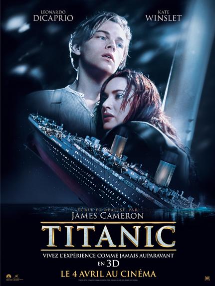 N°2 - Titanic : 2,187 milliards de dollars de recettes