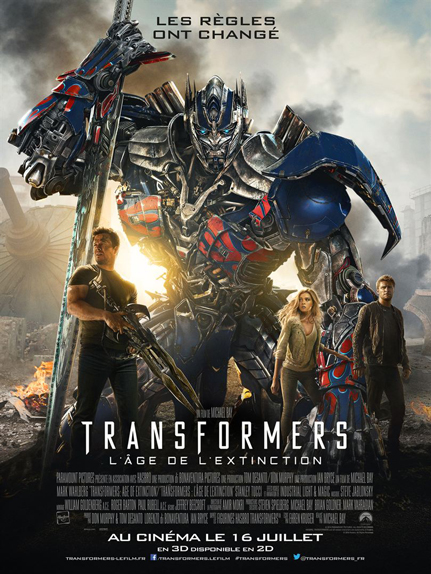N°26 - Transformers l'âge de l'extinction : 1,104 milliard de dollars de recettes
