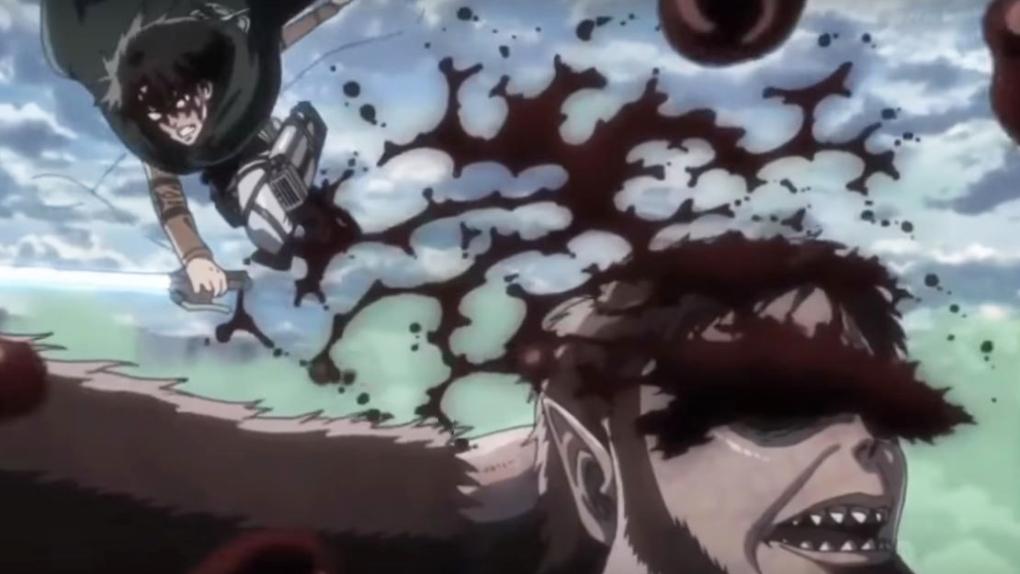 Livaï terrasse le Titan Bestial