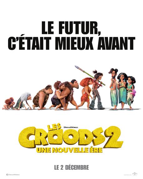 Les Croods 2 avec les voix de Nicolas Cage, Ryan Reynolds, Emma Stone...