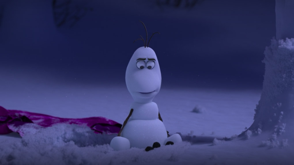 Olaf ne sait pas jongler, ni lire d'ailleurs.