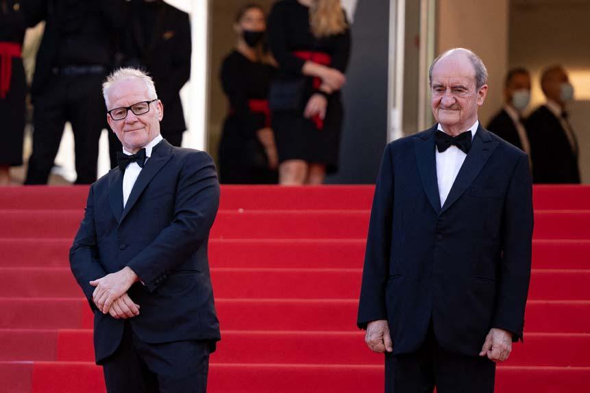Thierry Frémaux, délégué général du festival de Cannes, Pierre Lescure, président du festival de Cannes