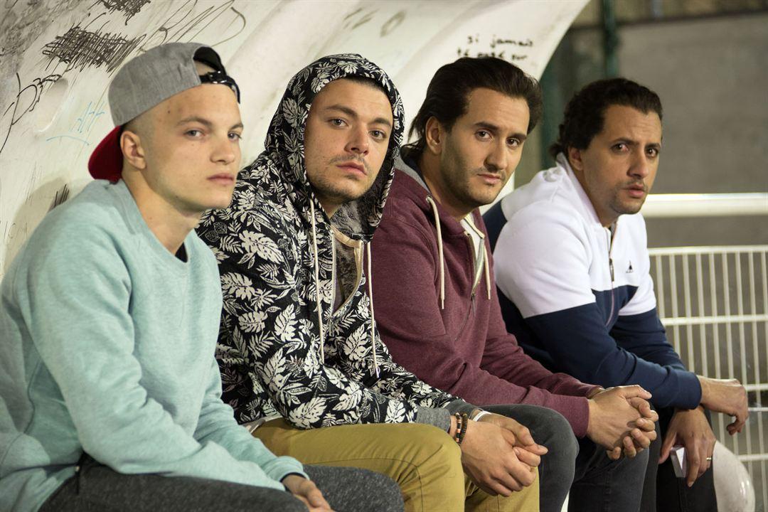 Amis publics : Photo John Eledjam, Kev Adams, Majid Berhila, Paul Bartel (II)