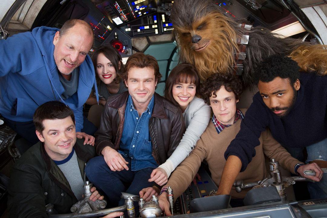 Solo: A Star Wars Story : Photo promotionnelle Alden Ehrenreich, Christopher Miller, Donald Glover, Emilia Clarke, Joonas Suotamo