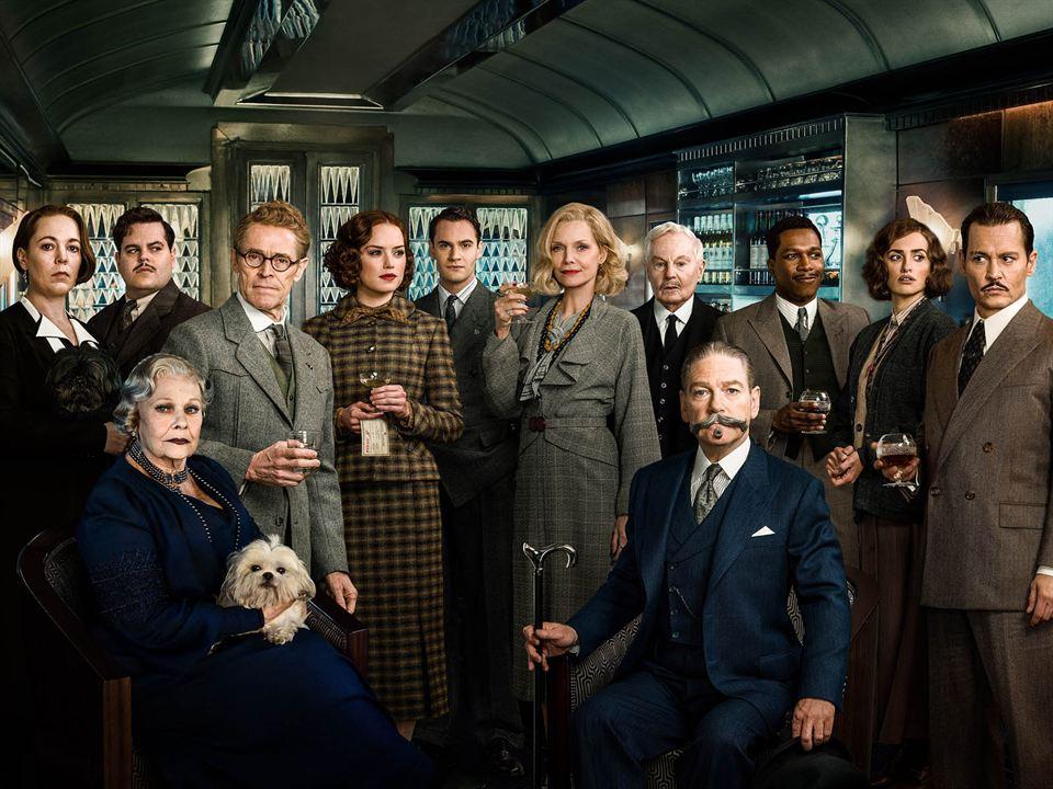 Le Crime de l'Orient-Express : Photo promotionnelle Daisy Ridley, Derek Jacobi, Johnny Depp, Josh Gad, Judi Dench