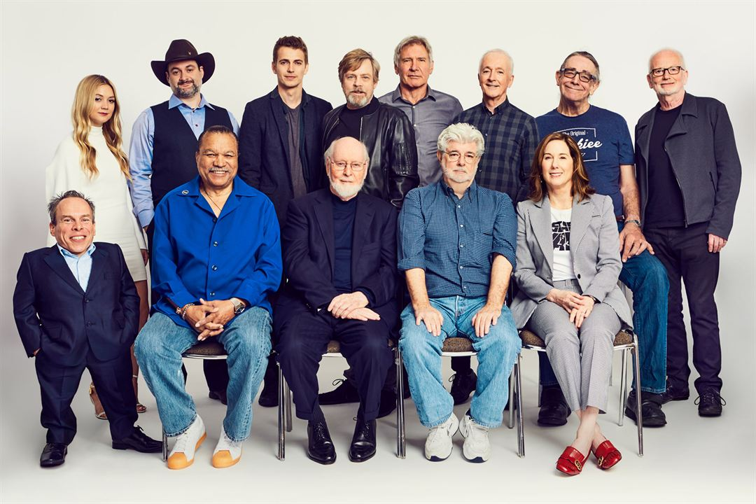 Star Wars - Les Derniers Jedi : Photo promotionnelle Anthony Daniels, Billie Lourd, Billy Dee Williams, Dave Filoni, George Lucas