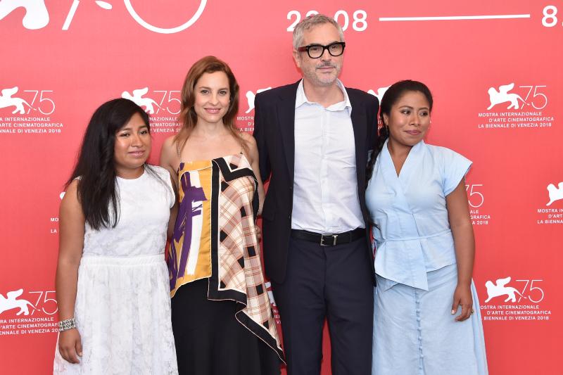 Roma : Photo promotionnelle Alfonso Cuarón, Marina de Tavira, Nancy García, Yalitza Aparicio
