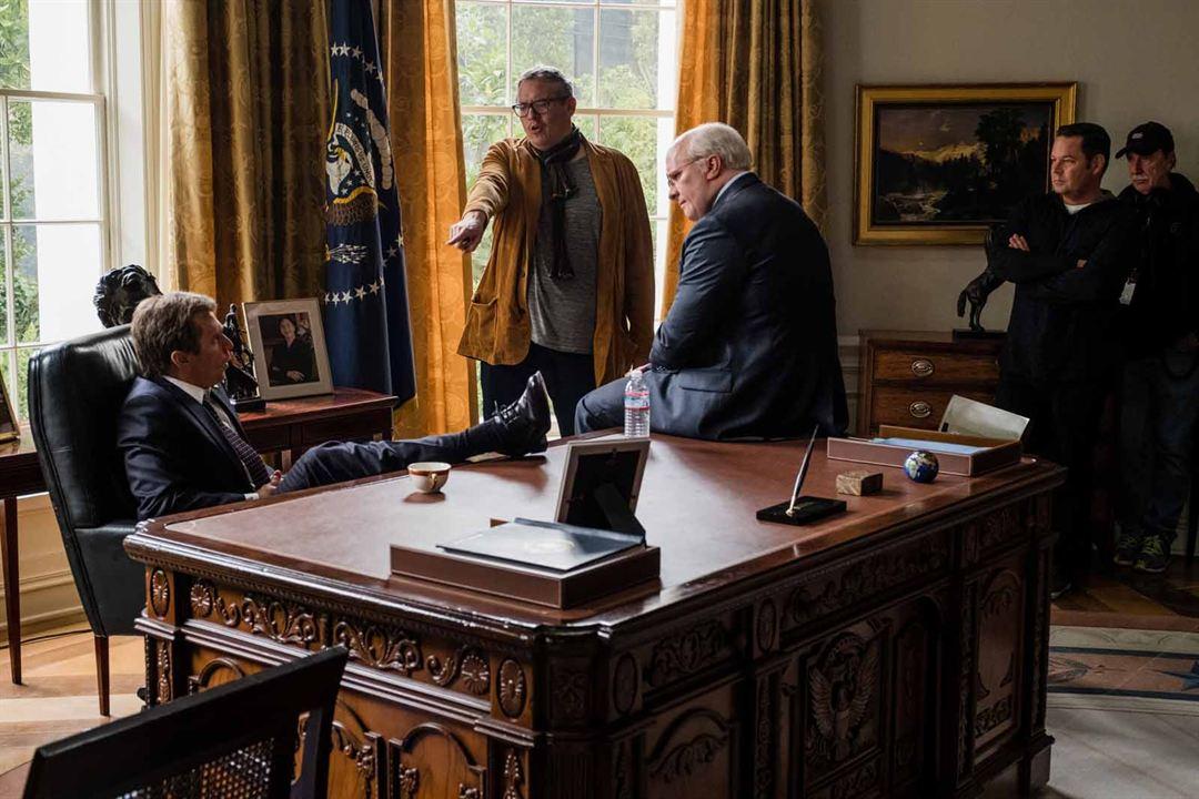 Vice : Photo Adam McKay, Christian Bale, Steve Carell