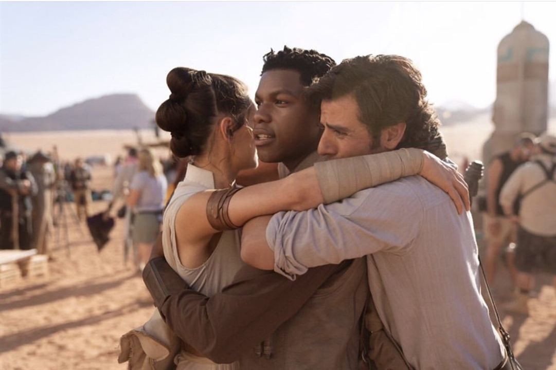 Star Wars: L'Ascension de Skywalker : Photo promotionnelle Daisy Ridley, John Boyega, Oscar Isaac