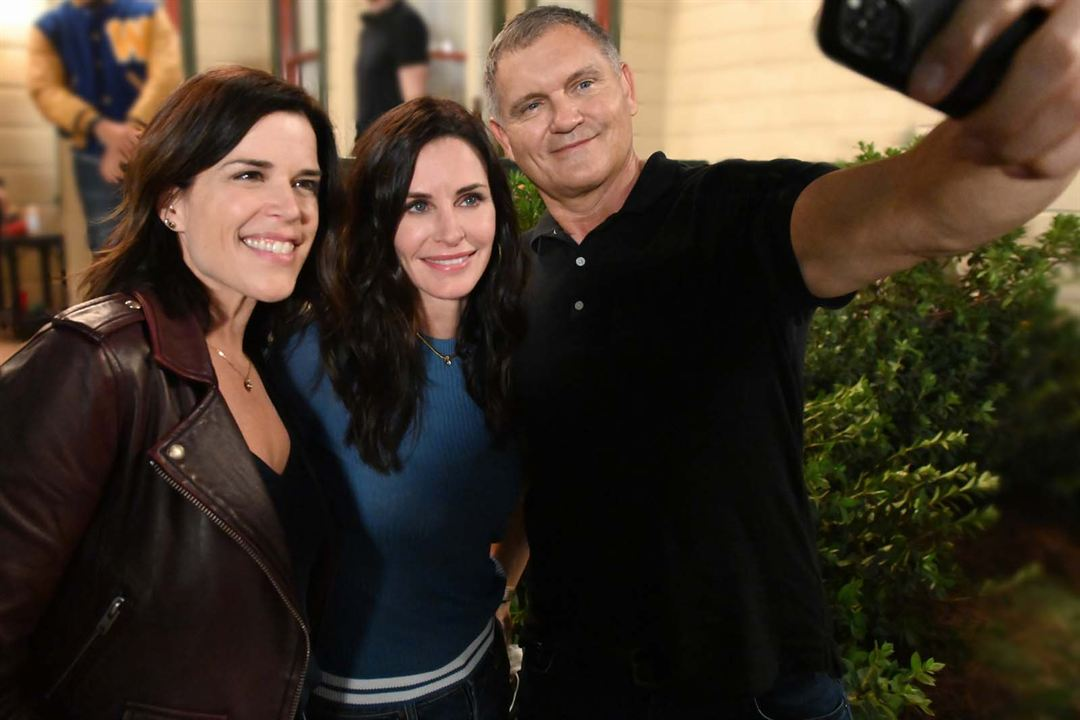 Scream : Photo Courteney Cox, Kevin Williamson, Neve Campbell