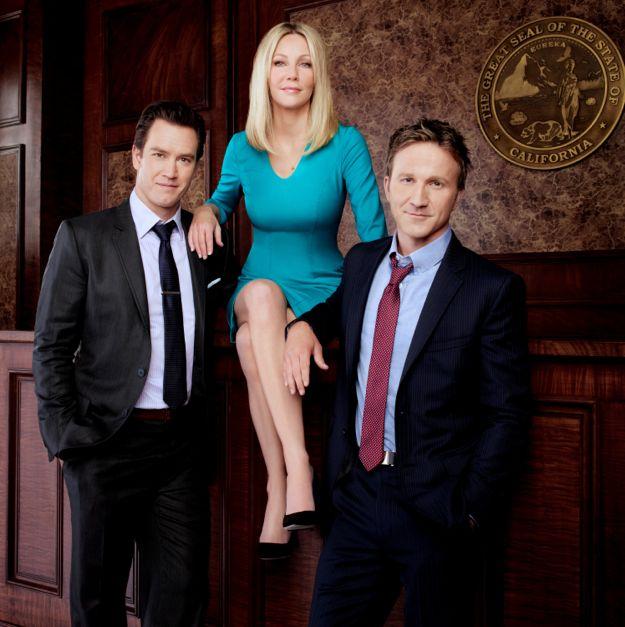 Photo Breckin Meyer, Heather Locklear, Mark-Paul Gosselaar