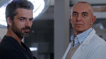 L'acteur Luca Argentero avec le Dr. Pierdante Piccioni.