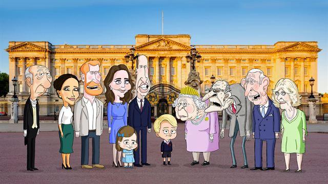 """Résultat de recherche d'images pour """"famille royale d'angleterre caricature megxit"""""""